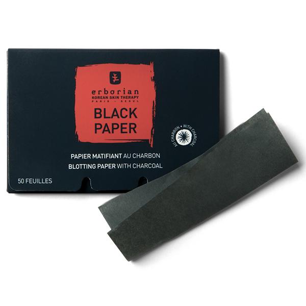 Черные матирующие салфетки с углем