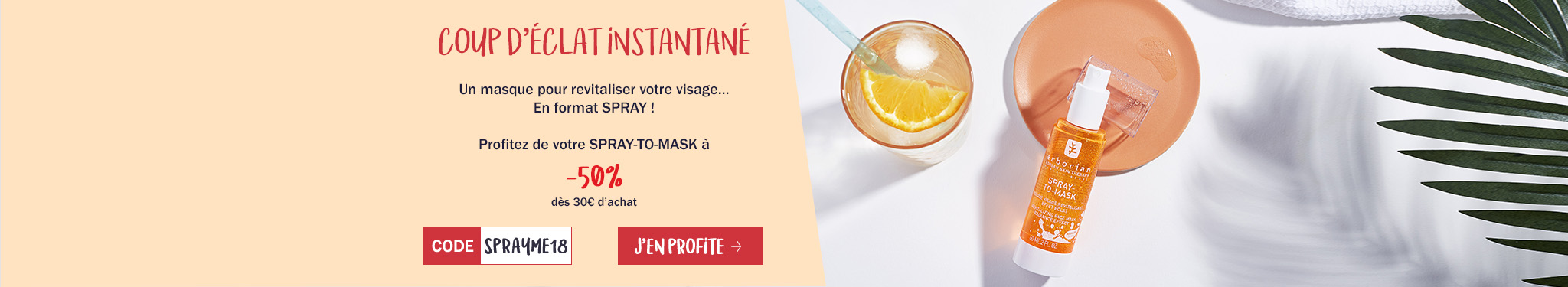 Le SPRAY-TO-MASK à -50% !