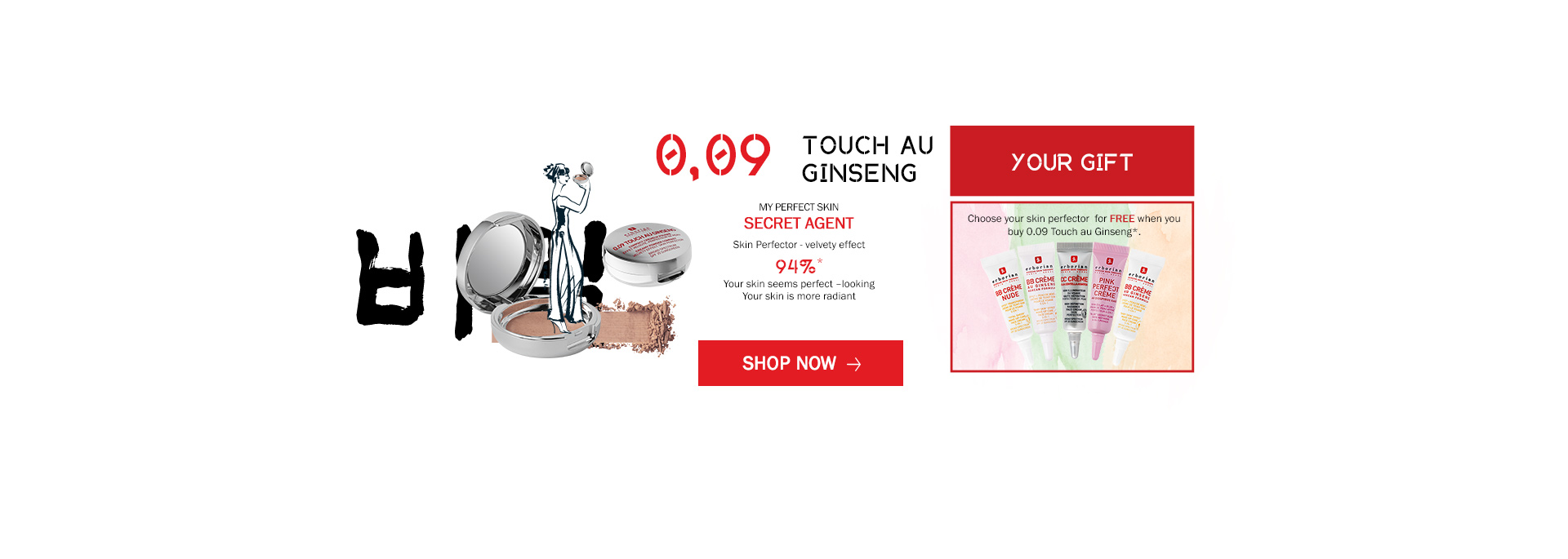 NEW 0.09 Touch au Ginseng