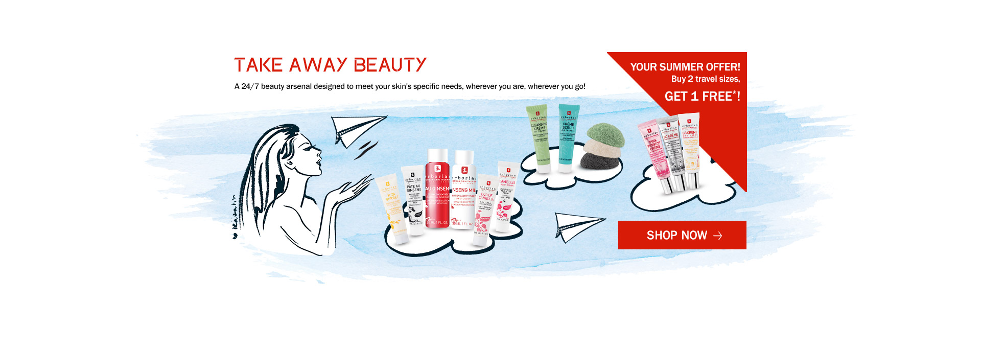 Take Away Beauty. Choose your essentials for holidays with these travel sizes