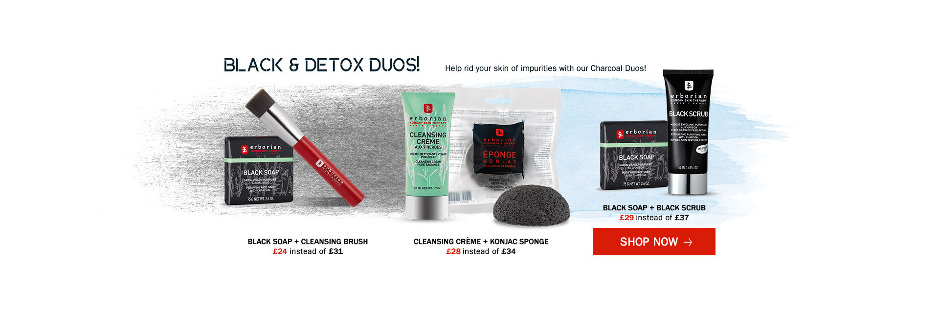 Our Charcoal Collection for the best matte result and perfect cleansing action