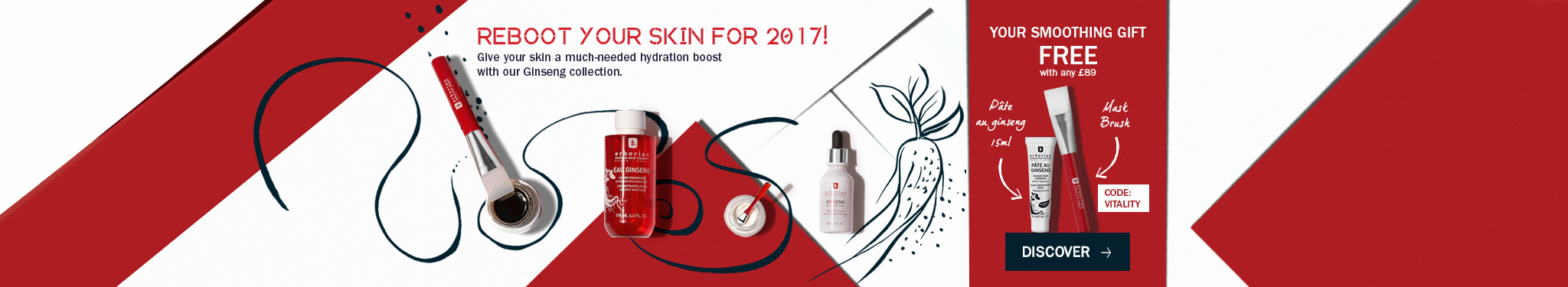 Reboot your skin: give to your skin a much-needed hydration boost with our ginseng collection
