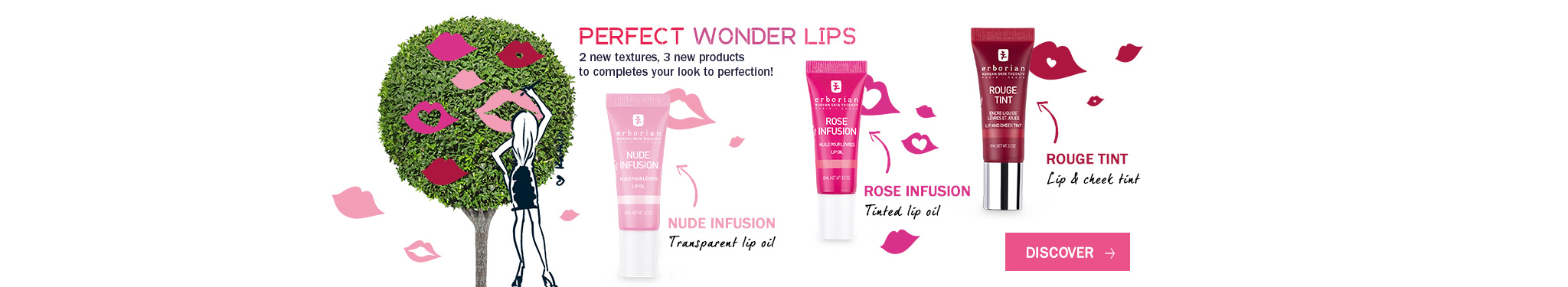 Our new tinted lip oil Lip Love for Perfect wonder lips