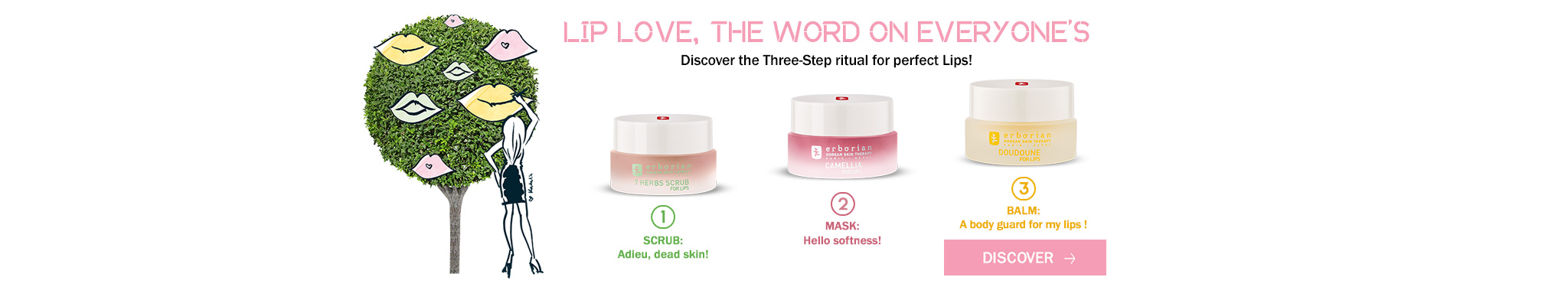 exfoliate nourish and protect your lips with our lip love products